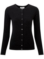Pure Collection Hadyn Round Neck Cashmere Cardigan Black