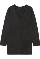 Helmut Lang Waffle Knit Wool And Cashmere Blend Sweater Charcoal