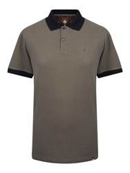 Pretty Green Men's Turner Plain Polo Charcoal