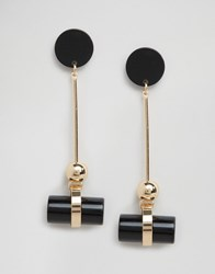 Cara Jewellery Ny Retro Drop Earrings Black