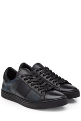 Burberry Shoes And Accessories Sneakers With Leather Blue