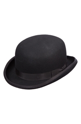 Scala Wool Felt Bowler Hat Black