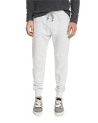 Brunello Cucinelli Drawstring Knit Spa Sweatpants Fog