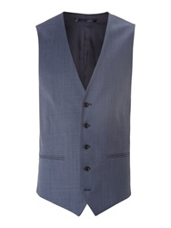 New And Lingwood Coledale End On End Waistcoat Blue