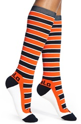 Fivelo 'Chicago Bears' Stripe Socks Black Iris Red Orange White