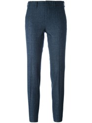Pt01 Slim Fit Cropped Trousers Blue