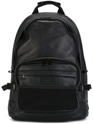 Ami Alexandre Mattiussi Zip Up Backpack Black