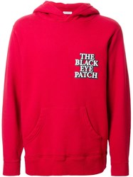 Black Eye Patch Logo Hoodie Red