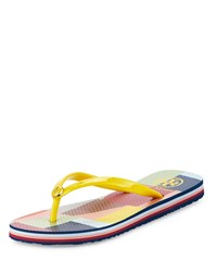 Tory Burch Colorblock Rubber Thong Sandal Yellow Colorscape Women's