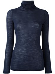 Zanone Roll Neck Jumper Blue