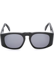 Chanel Vintage Quilted Detailing Sunglasses Black