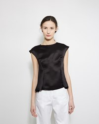 Maison Margiela Defile Sleeveless Satin Top Black