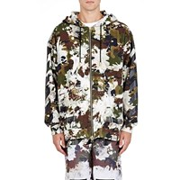 Off White C O Virgil Abloh Camouflage Zip Front Hoodie Green
