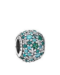 Pandora Design Pandora Charm Sterling Silver Cubic Zirconia And Crystal Ocean Mosaic Pave Moments Collection Green