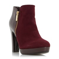 Dune Oscar Side Zip Ankle Boots Berry