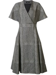 Creatures Of The Wind V Neck Flared Dress Grey