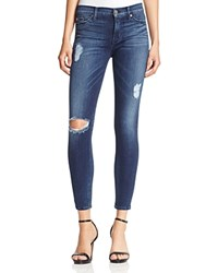 Hudson Nico Ankle Distressed Jeans In Anchorlight
