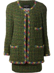 Chanel Vintage Two Piece Suit Green