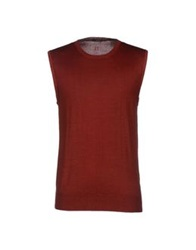 Hosio Sweaters Brick Red