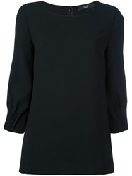 Steffen Schraut Scoop Neck Blouse Black