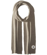 Converse Core Knit Scarf Charcoal Scarves Gray