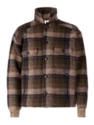 Faith Connexion Lumberjack Jacket Brown