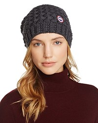 Canada Goose Basket Weave Slouchy Hat Graphite