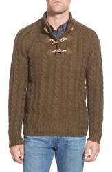 Men's Schott Nyc Toggle Cable Knit Sweater