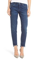 Blank Nyc Women's Blanknyc Staggered Hem Crop Jeans