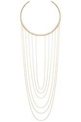 Ettika Drop Chain Choker Necklace Metallic Gold