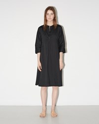 Dosa Godet Tunic Dress Black