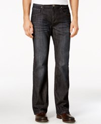 Inc International Concepts Men's Topaz Boot Cut Dark Blue Wash Jeans Only At Macy's Dark Wash