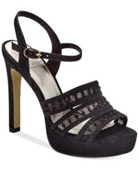 Adrianna Papell Morgan Ankle Strap Evening Sandals Women's Shoes Black