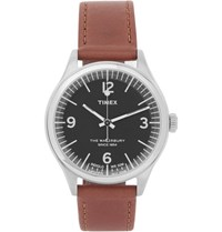 Timex Waterbury Stainless Steel And Leather Watch Brown
