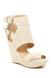 Joe's Jeans Kent Wedge Sandal Beige