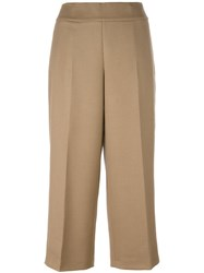 Akris Front Pleat Culottes Nude Neutrals