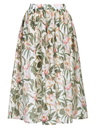 Cutie Floral Jungle Print Skirt Green