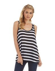 Kensie Mesh Striped Tank Black