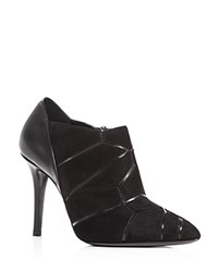 Giorgio Armani Geometric High Heel Booties Black