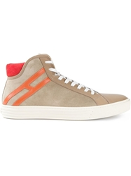 Hogan Rebel 'Rebel' Sneakers Nude And Neutrals