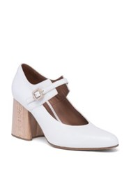 Marni Leather Mary Jane Wooden Block Heel Pumps White