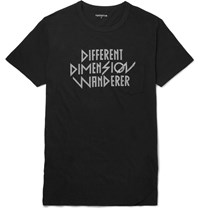 Nonnative Sim Fit Printed Cotton Jersey T Shirt Black