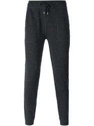 Michael Kors Gathered Ankle Track Pants Grey