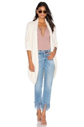 Bishop Young Fuzzy Open Cardigan Cream