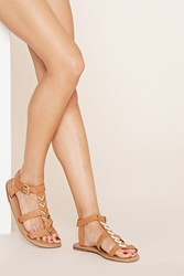 Forever 21 Chevron Faux Leather Sandals