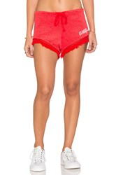 Wildfox Couture Fun Fox Shorts Red