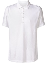 Transit Buttoned Collar T Shirt White