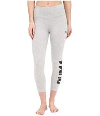 Puma Style Swagger 3 4 Leggings Light Gray Heather Women's Workout