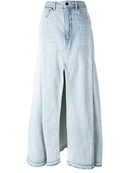 Alexander Wang Maxi Denim Skirt Blue