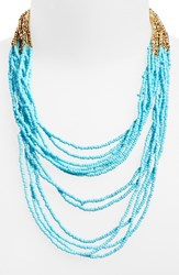 Women's Panacea Seed Bead Multistrand Necklace Turquoise
